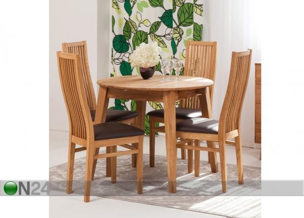 d5864baa19a Tammepuust pikendatav söögilaud Basel 90-130x90 cm+ 4 tooli Sandra EC-119699