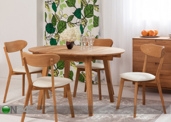 743130a0d1e Tammepuust pikendatav söögilaud Basel 90-130x90 cm+ 4 tooli Irma EC-119700