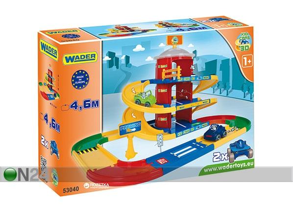3-kerroksinen autotalli KID CARS 3D KE-121826