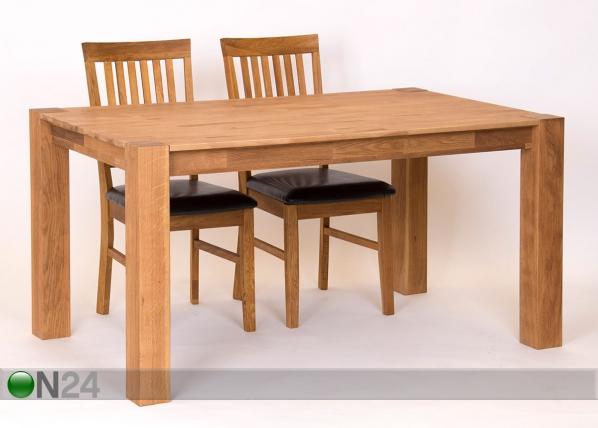 Ruokapöytä, tammi 120x80 cm RU-121914