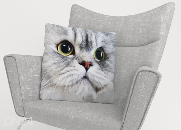 Koristetyynyliina GRAY CAT ED-123861