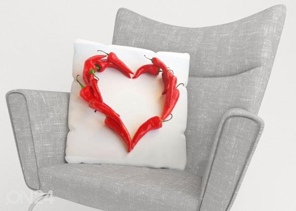 Koristetyynyliina HOT HEART ED-123967