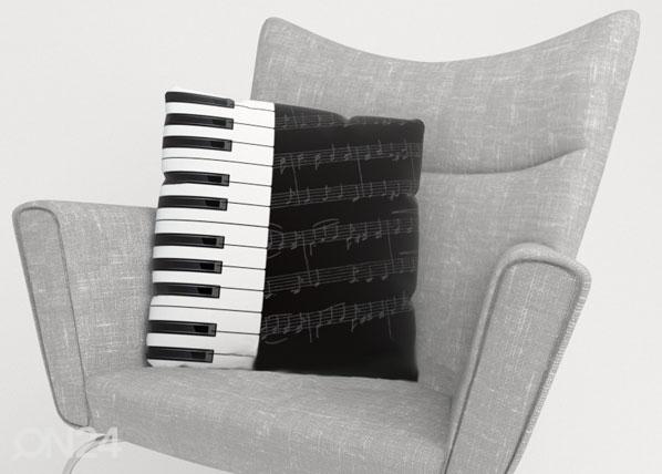 Koristetyynyliina PIANO KEYS ED-124198