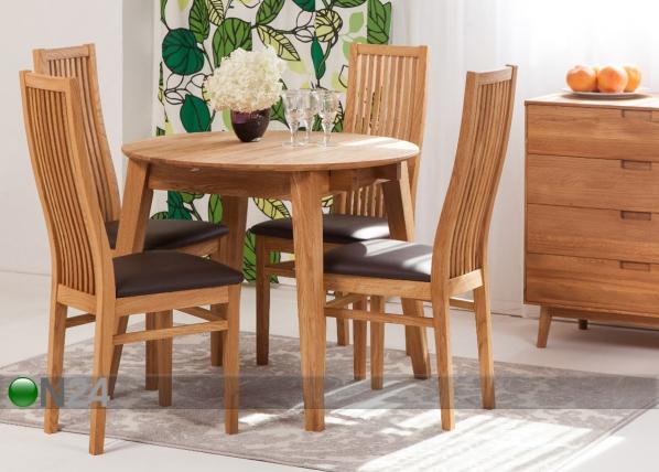 3d8d739e1ca Tammepuust pikendatav söögilaud Basel 110-160x110 cm+ 4 tooli Sandra  EC-125606