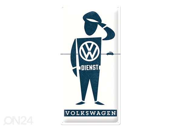 Retro metallposter VW Dienst 25x50 cm SG-126775