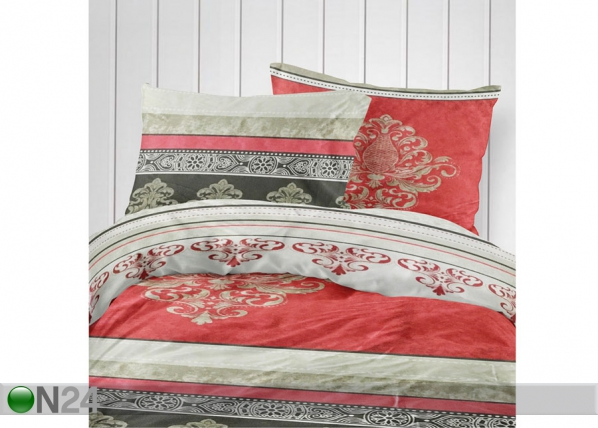 Pussilakana RED ORNAMENT 180x210 cm VO-127559