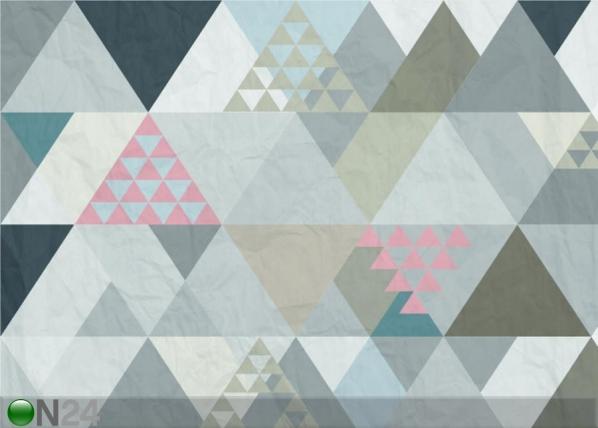Fliis-fototapeet Triangles 1, 360x270 cm ED-128210