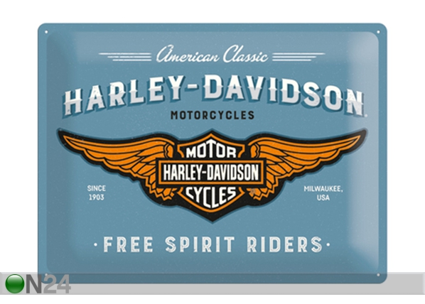 Retro metallposter Harley-Davidson logo 30x40 cm SG-129680