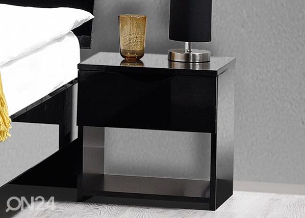 Yöpöytä LETTY BLACK MA-130920