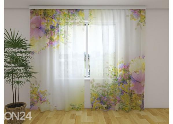 Sifonki-kuvaverho SUMMER FIELD FLOWERS 240x220 cm ED-131428