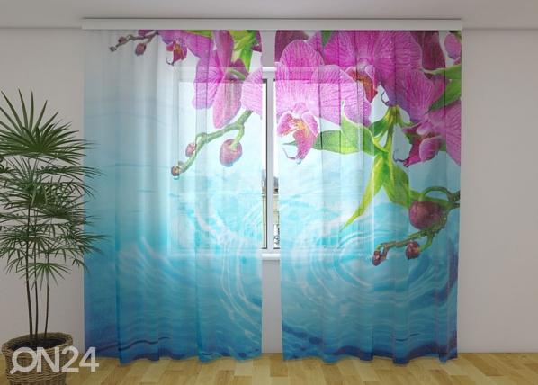 Šifoon-fotokardin Amazing Orchid 240x220 cm ED-131431