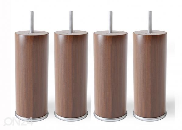 Деревянные ножки с металлическим краем 15 cm SW-132180