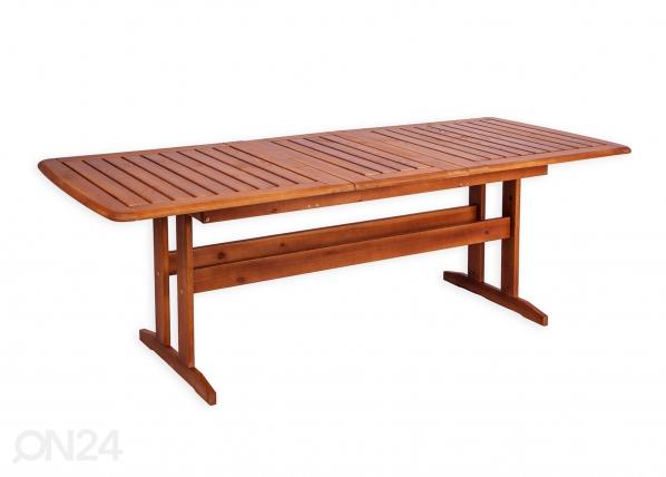 Jatkettava puutarhapöytä BAVARIA 90x170-220 cm WK-132190