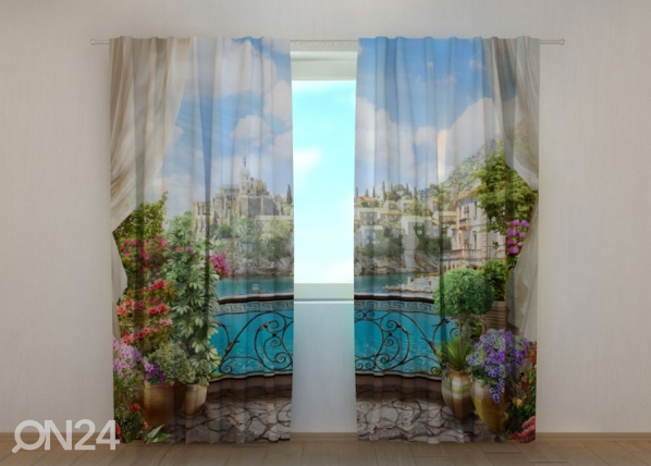 Poolpimendav kardin Balcony with flowers 240x220 cm ED-133756