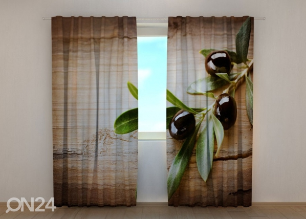 Poolpimendav kardin Black Olives 240x220 cm ED-134200