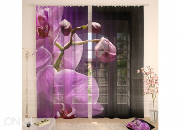 Tylliverhot ORCHID IN THE NIGHT 290x260 cm AÄ-134297
