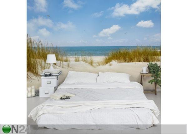 Fleece-kuvatapetti BEACH AT THE NORTH SEA ED-134841