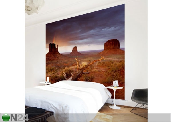 Fleece-kuvatapetti MONUMENT VALLEY AT SUNSET ED-135454