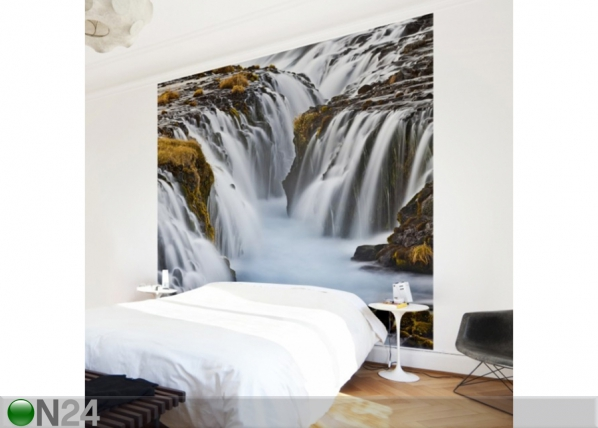 Fleece-kuvatapetti BRUARFOSS WATERFALL IN ICELAND ED-135916