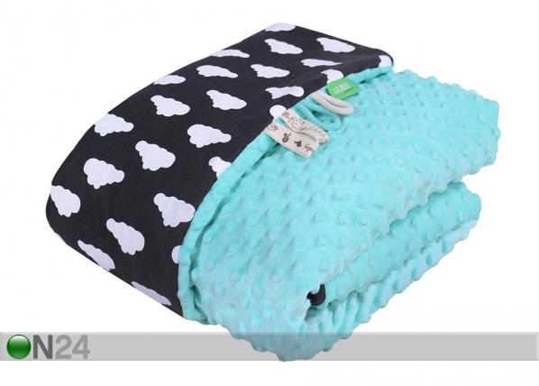 Детское одеяло Lulando Minky 100x80 см, синее GB-135928