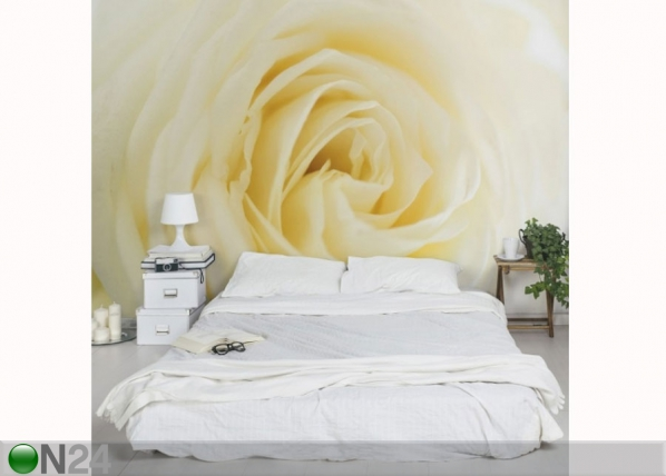 Fleece-kuvatapetti WHITE ROSE ED-137558