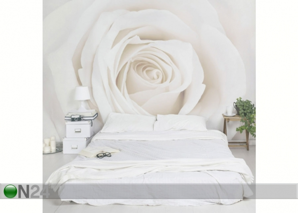 Fleece-kuvatapetti PRETTY WHITE ROSE ED-138508