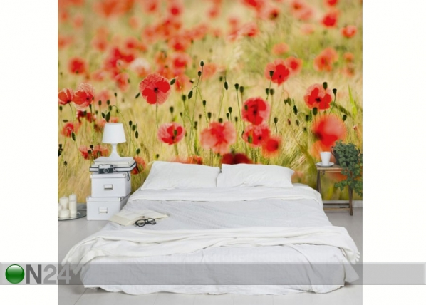 Fleece-kuvatapetti SUMMER POPPIES ED-138527