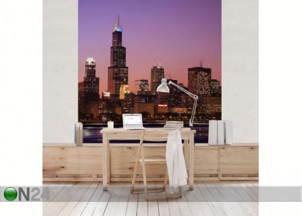 Fleece-kuvatapetti CHICAGO SKYLINE ED-139040