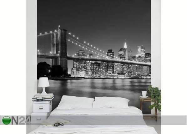 Fleece-kuvatapetti NIGHTTIME MANHATTAN BRIDGE II ED-139351