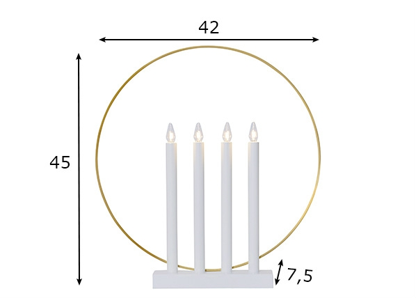 Sähkökynttilät GLORY, valkoinen AA-140571