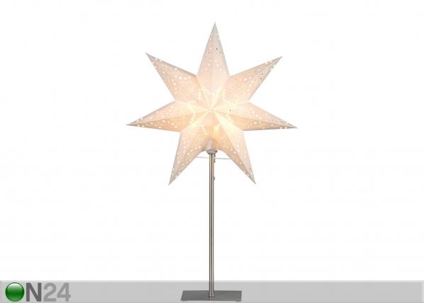 Valge täht Sensy jalaga 55 cm AA-142402