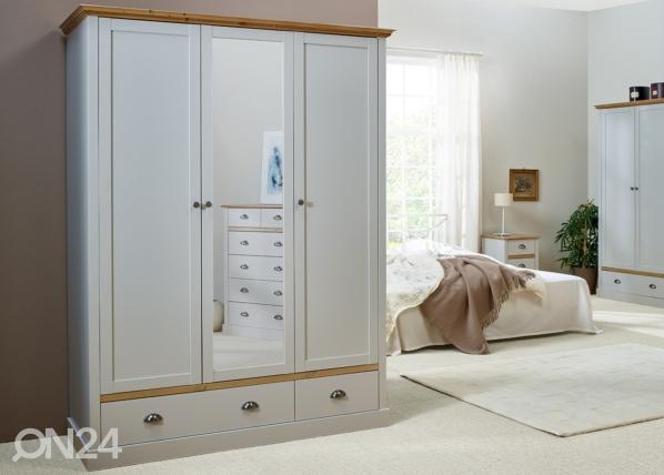 Шкаф платяной Sandringham, серый/дубовая морилка CM-142521