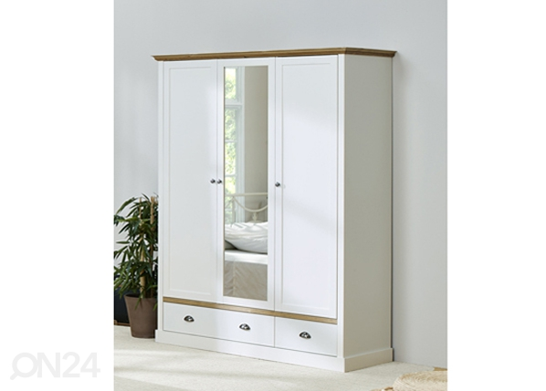 Шкаф платяной Sandringham, белый/дубовая морилка CM-142524