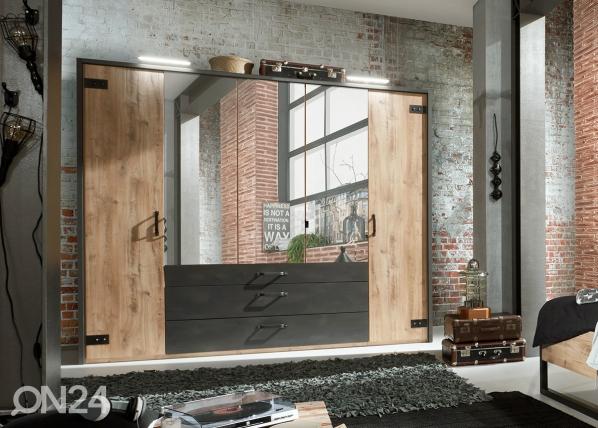 Шкаф платяной Detroit + рама SM-142654