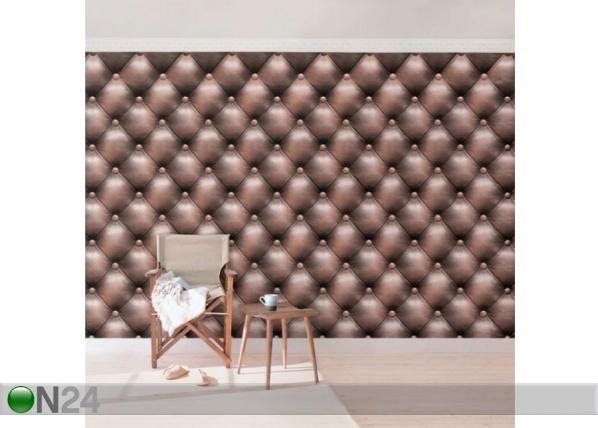 Fleece-kuvatapetti Chesterfield Leather ED-143251