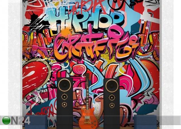 Fleece-kuvatapetti HipHop Graffiti ED-143274