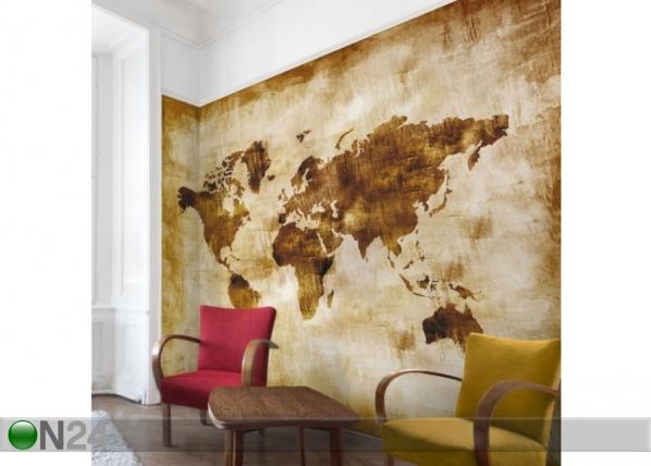 Fleece-kuvatapetti Map of the World ED-143467
