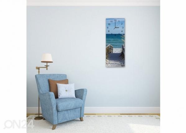 Kuvallinen seinäkello ROAD TO THE BEACH ED-143640