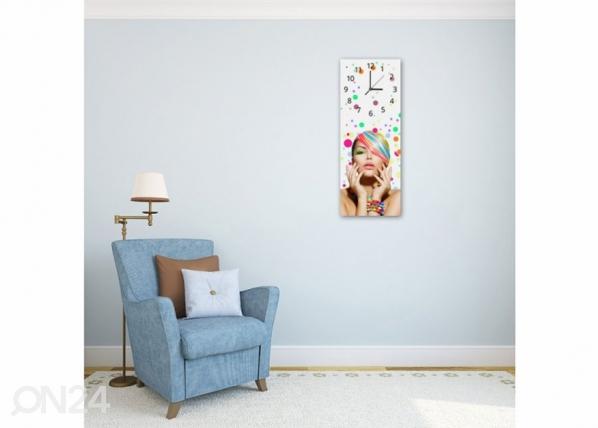 Kuvallinen seinäkello WOMAN IN COLORS ED-143833