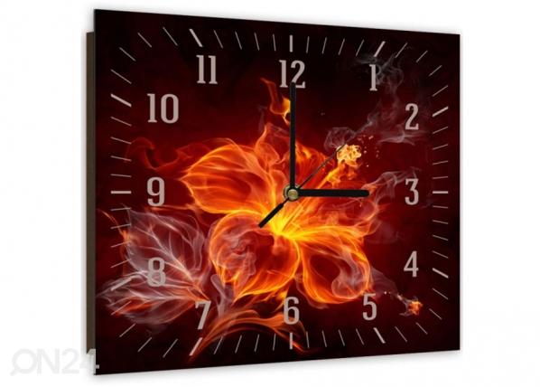 Kuvallinen seinäkello FIRE FLOWER ED-144119