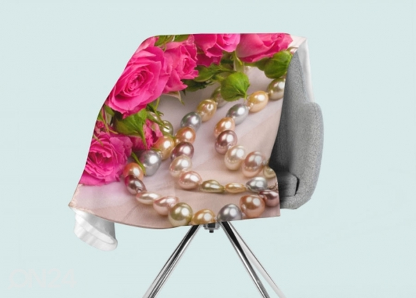 Fleecepeitto Roses and Pearls ED-146591