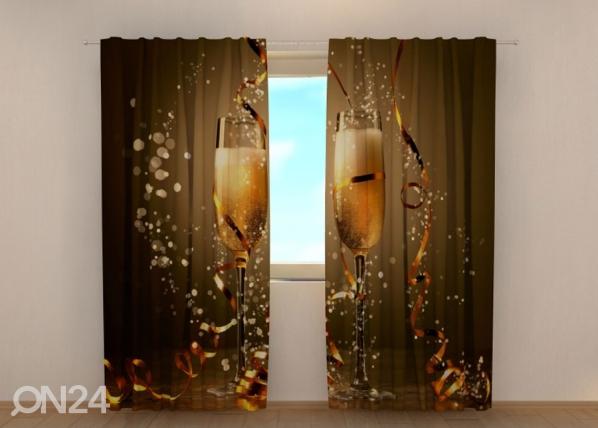 Puolipimentävä verho Christmas champagne 240x220 cm ED-146933