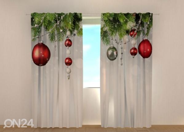 Puolipimentävä verho Christmas Decorations 240x220 cm ED-146936