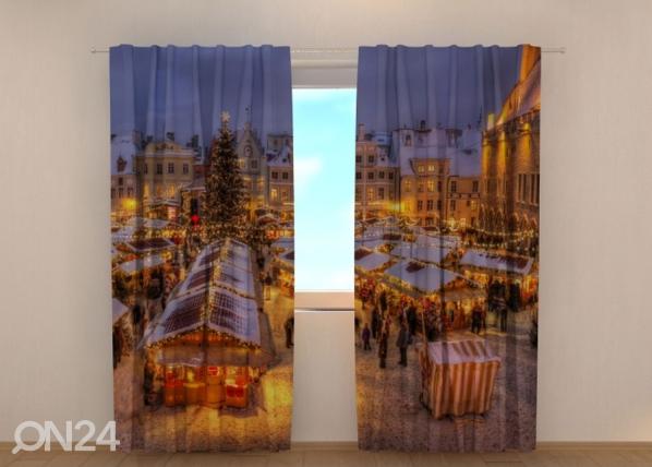 Puolipimentävä verho Christmas Fair in Tallinn 240x220 cm ED-146938