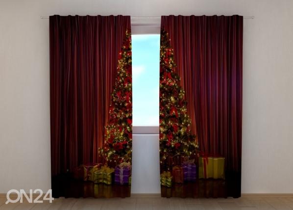 Puolipimentävä verho Christmas Tree 240x220 cm ED-146958