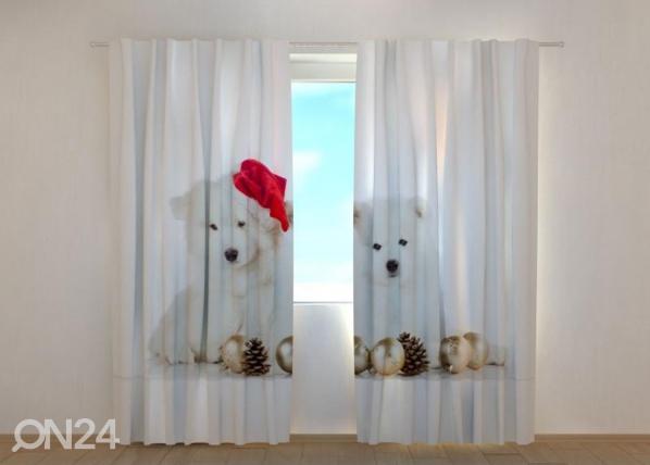 Puolipimentävä verho Christmas Puppies 240x220 cm ED-146961