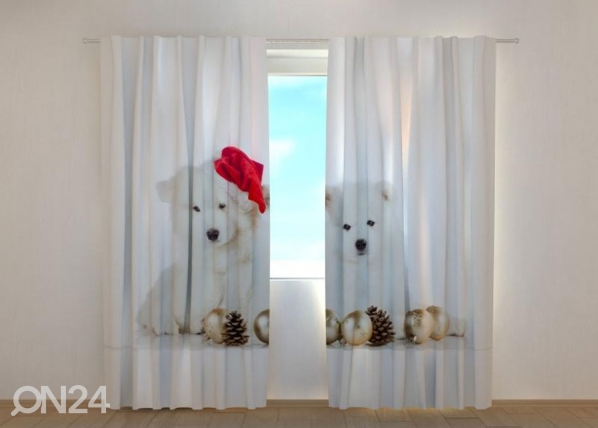 Poolpimendav kardin Christmas Puppies 240x220 cm ED-146961