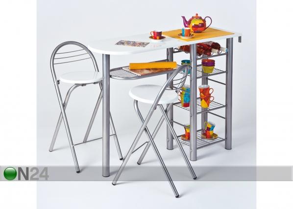 Baarilaud ja 2 tooli Frida AY-147465