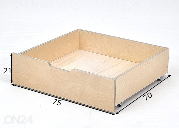 Vuodevaatelaatikko Jerwen 75x70x21 cm IF-149493