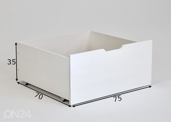 Vuodevaatelaatikko Jerwen 75x70x35 cm IF-149494